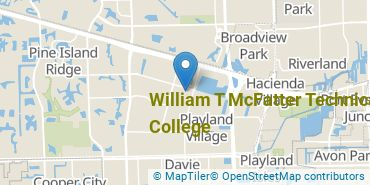 Location of William T McFatter Technical College