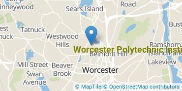 Location of Worcester Polytechnic Institute
