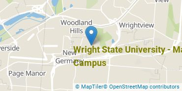 Location of Wright State University - Main Campus