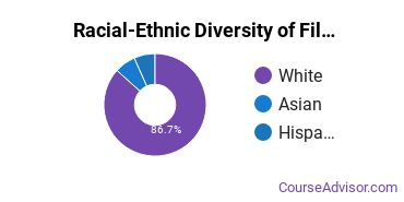 Racial-Ethnic Diversity of Film, Video & Photographic Arts Majors at Wright State University - Main Campus