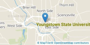 Location of Youngstown State University