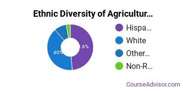 Agricultural Economics Majors in NM Ethnic Diversity Statistics