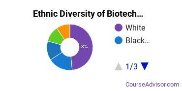 Biotechnology Majors in MD Ethnic Diversity Statistics