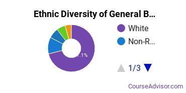 Business & Commerce Majors in IN Ethnic Diversity Statistics