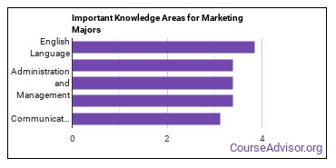 Important Knowledge Areas for Marketing Majors