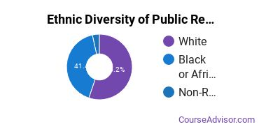 Public Relations & Advertising Majors in MS Ethnic Diversity Statistics