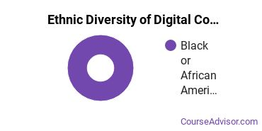 Radio, TV & Digital Communication Majors in DC Ethnic Diversity Statistics