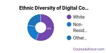 Radio, TV & Digital Communication Majors in ND Ethnic Diversity Statistics