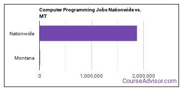 Computer Programming Jobs Nationwide vs. MT