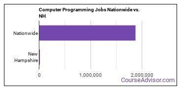 Computer Programming Jobs Nationwide vs. NH