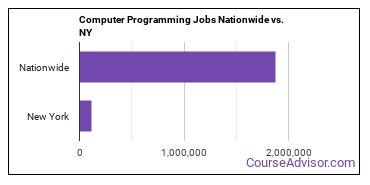 Computer Programming Jobs Nationwide vs. NY