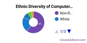 Computer Software Applications Majors in DC Ethnic Diversity Statistics