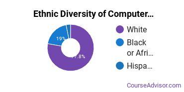 Computer Software Applications Majors in LA Ethnic Diversity Statistics