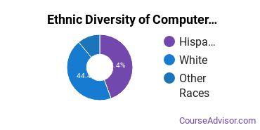 Computer Software Applications Majors in NM Ethnic Diversity Statistics