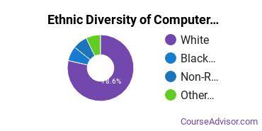 Computer Software Applications Majors in SC Ethnic Diversity Statistics