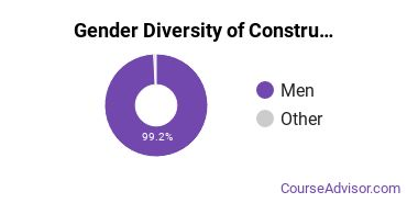 Construction Majors in AZ Gender Diversity Statistics