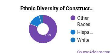 Construction Majors in HI Ethnic Diversity Statistics