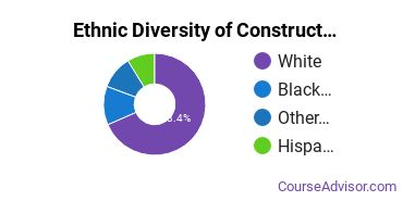 Construction Majors in IA Ethnic Diversity Statistics