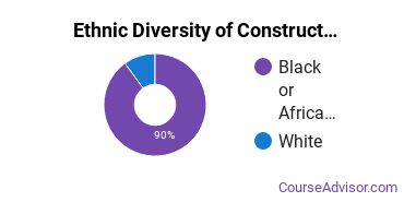 Construction Majors in SC Ethnic Diversity Statistics