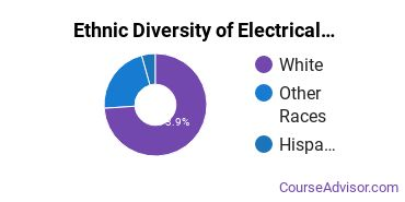 Electrical & Power Installation Majors in MT Ethnic Diversity Statistics