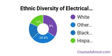 Electrical & Power Installation Majors in NY Ethnic Diversity Statistics