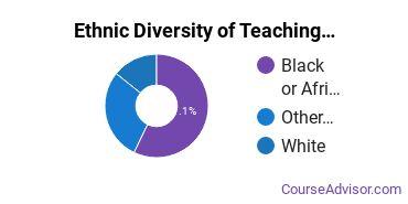 Teaching Assistant/Aide Majors in AZ Ethnic Diversity Statistics