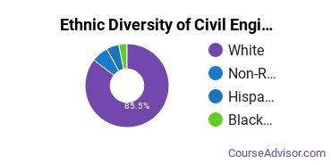Civil Engineering Majors in PA Ethnic Diversity Statistics