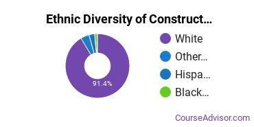 Construction Engineering Majors in KS Ethnic Diversity Statistics
