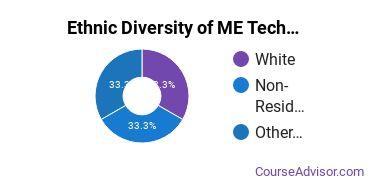 Mechanical Engineering Majors in AZ Ethnic Diversity Statistics