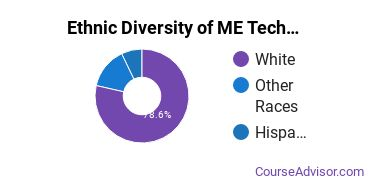 Mechanical Engineering Majors in IA Ethnic Diversity Statistics