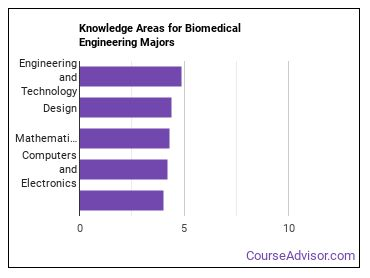 Important Knowledge Areas for Biomedical Engineering Majors