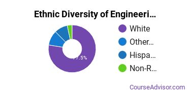General Engineering Majors in OR Ethnic Diversity Statistics