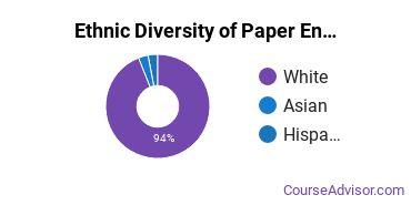 Paper Science & Engineering Majors Ethnic Diversity Statistics