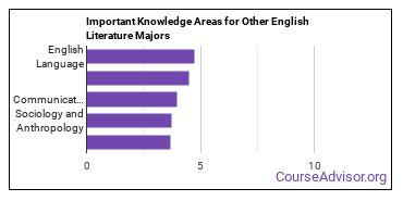 Important Knowledge Areas for Other English Literature Majors