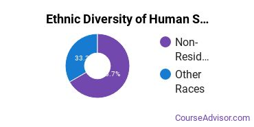 Human Sciences Business Services Majors in HI Ethnic Diversity Statistics