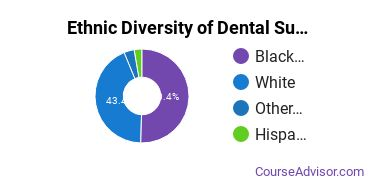 Dental Support Services Majors in MS Ethnic Diversity Statistics