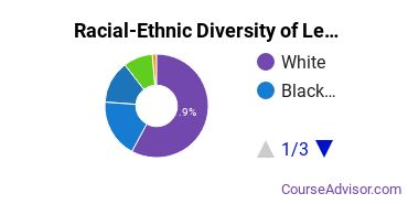 Racial-Ethnic Diversity of Legal Support Bachelor's Degree Students