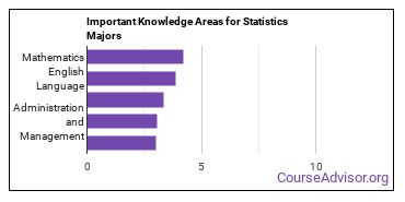 Important Knowledge Areas for Statistics Majors