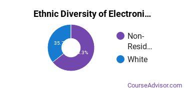 Electronics Maintenance & Repair Majors in ND Ethnic Diversity Statistics