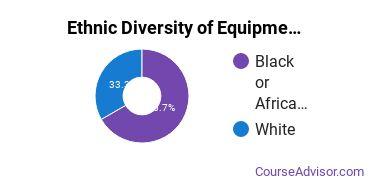Heavy Equipment Maintenance Majors in MD Ethnic Diversity Statistics