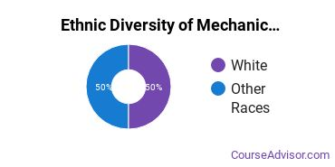 Mechanics & Repairers Majors in OK Ethnic Diversity Statistics