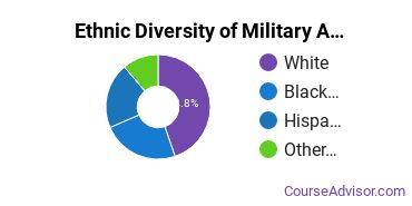 Military Applied Sciences Majors in TX Ethnic Diversity Statistics