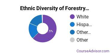 Forestry Majors in AZ Ethnic Diversity Statistics