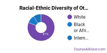 Racial-Ethnic Diversity of Other Parks & Rec Master's Degree Students