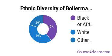 Boilermaking Majors in IN Ethnic Diversity Statistics
