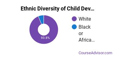 Child Development & Psychology Majors in VA Ethnic Diversity Statistics