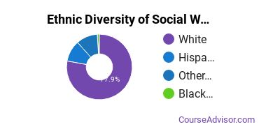 Social Work Majors in WY Ethnic Diversity Statistics