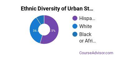 Urban Studies Majors in NJ Ethnic Diversity Statistics