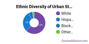 Urban Studies Majors in TX Ethnic Diversity Statistics