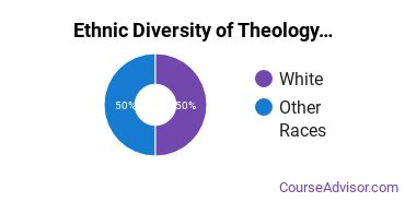Theological & Ministerial Studies Majors in MT Ethnic Diversity Statistics